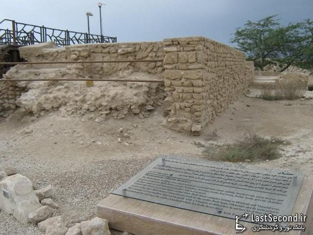 نمایی از حمام شهر تاریخی حریره کیش