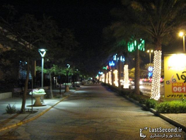 کیش - نمونه ای از پیاده روهای جزیره